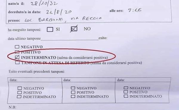 Clamoroso in Liguria: la Asl lo considera morto di Covid, ma il risultato del tampone non c'è