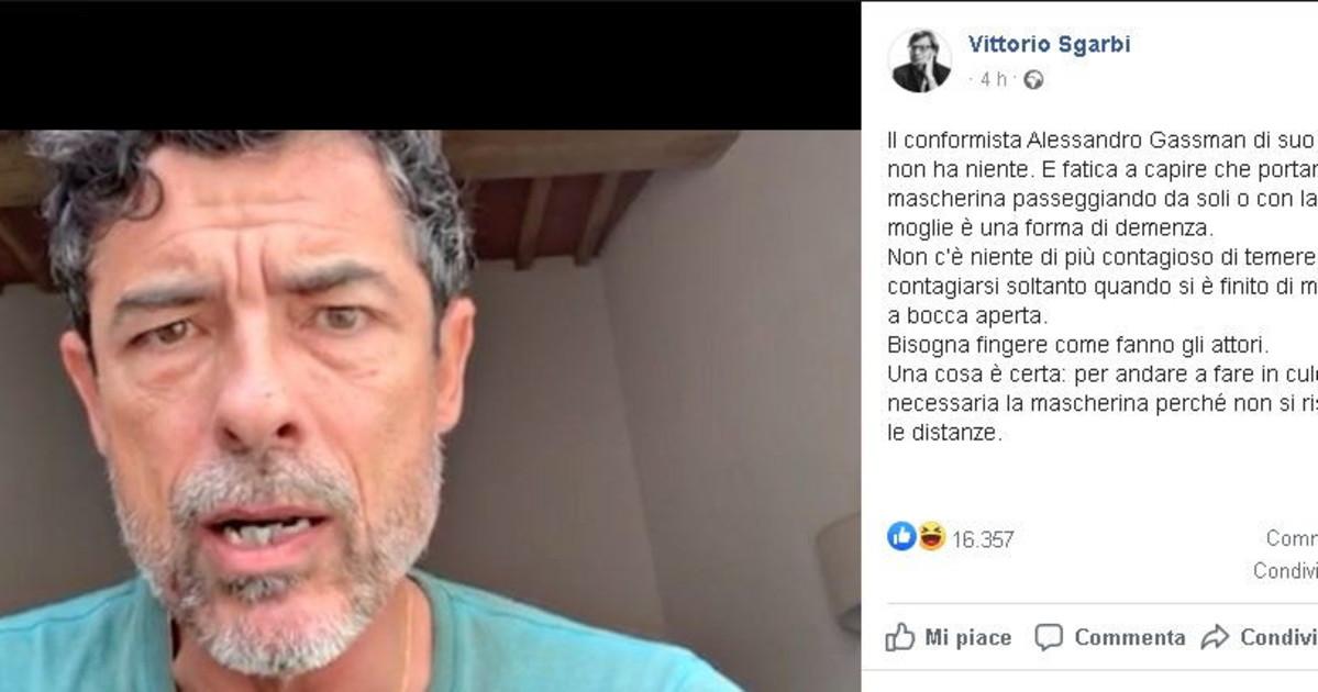 Alessandro Gassman e Vittorio Sgarbi, incredibile lite con insulti sulle mascherine thumbnail