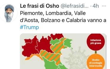 Piemonte E Lombardia Cartina.Lombardia E Piemonte A Trump Osho Fa Il Dpcm Usa Il Tempo