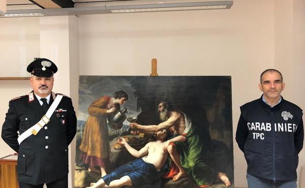 I carabinieri ritrovano un quadro del Seicento. I nazisti lo avevano sottratto a una famiglia ebrea