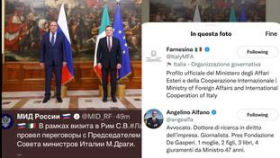Russi ancora innamorati di Alfano! L'errore diplomatico: Di Maio scompare dal tweet