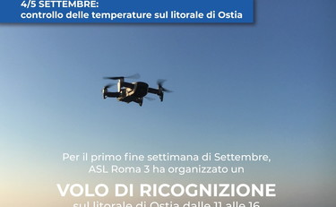 Drones on the beach to measure the fever of the bathers.  The latest from the Lazio region