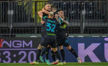 D'Ambrosio e Dimarco firmano il 2-0 dell'Inter a Empoli...